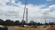 Erection of potain crane at the AgriBio site (1) 1209