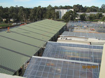Photo of the roof of the frameworks for PC2 Glasshouse