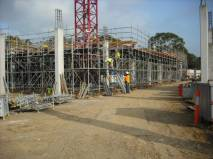 Scaffold erection and deck in Quadrant 2 020410