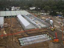 photo of the Loading Dock & PC3 Glasshouses