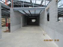 External Facility (Headhouse) view of internal corridor