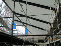 Sheeting the Atrium ceiling