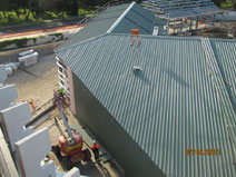 bird's eye view of the Loading Dock on the left behind the Headhouse